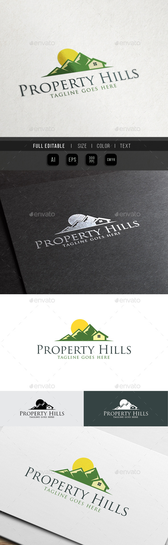 GraphicRiver Property Hills Eco Green House 10451418