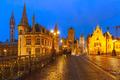 St. Michael Bridge at sunset in Ghent, Belgium - PhotoDune Item for Sale