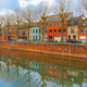 River Leie and colored houses in Ghent, Belgium - PhotoDune Item for Sale