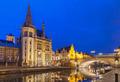 Quay Graslei in Ghent town at night, Belgium - PhotoDune Item for Sale