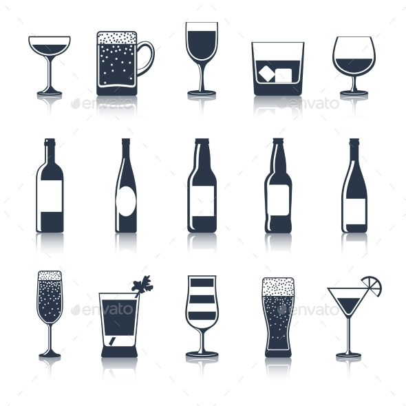 GraphicRiver Drink Icons Black 10451511