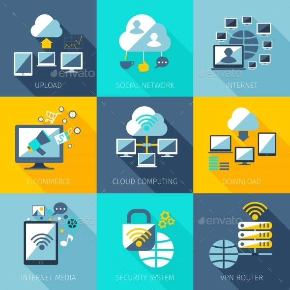GraphicRiver Network Concept Set 10451525