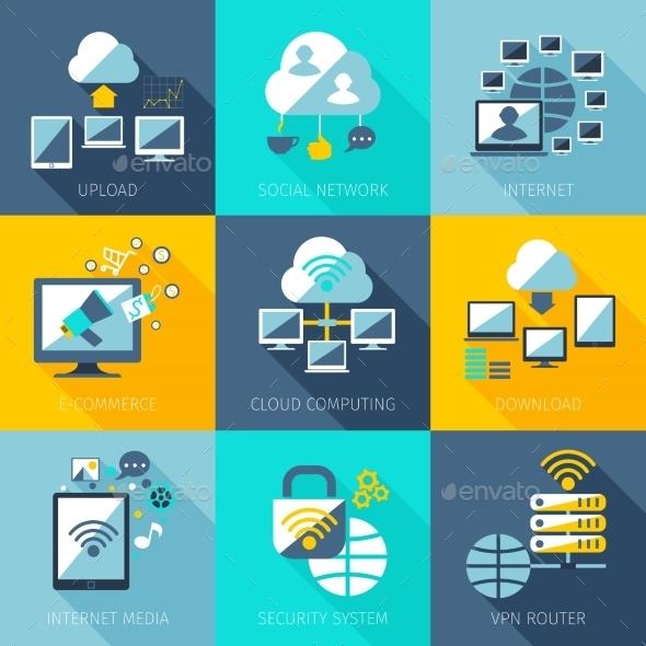 GraphicRiver Network Concept Set 10451525