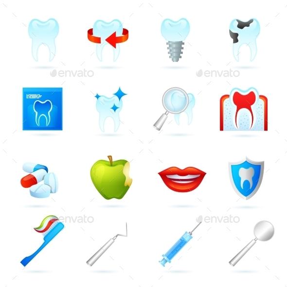GraphicRiver Dental Icons Set 10451538