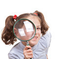 child with magnifying spy glass - PhotoDune Item for Sale