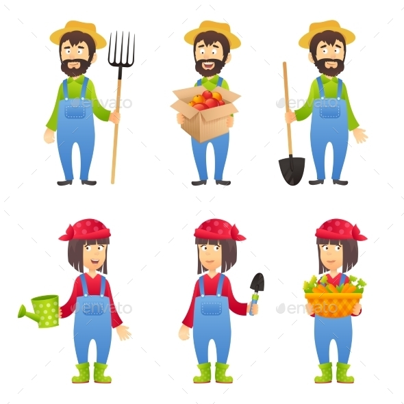 GraphicRiver Farmer Cartoon Character 10451545
