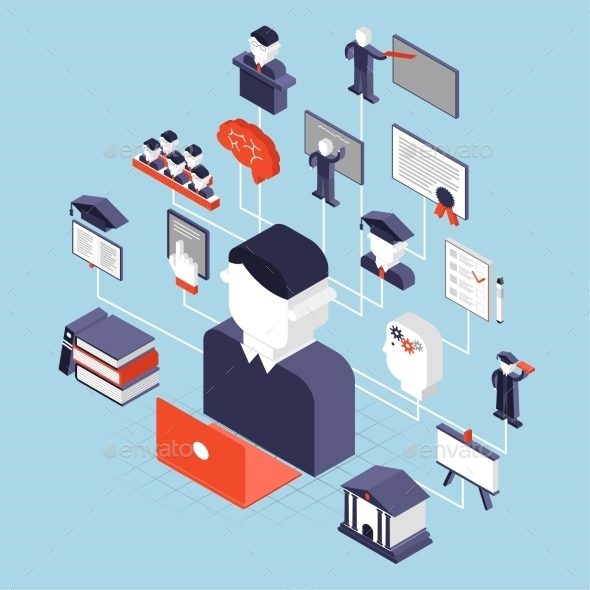 GraphicRiver Higher Education Isometric 10451581