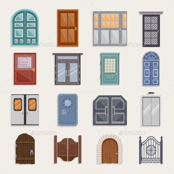GraphicRiver Door Icons Flat 10451582