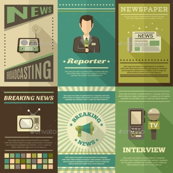 GraphicRiver Journalist Poster Set 10451601