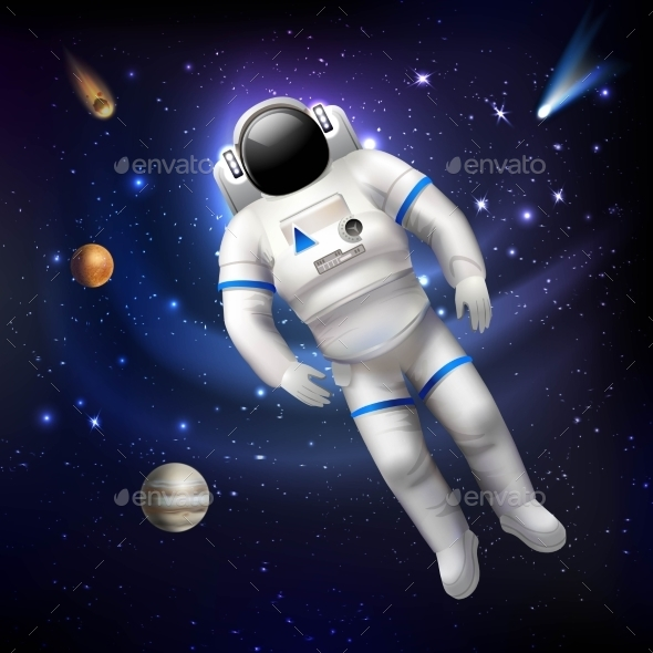 GraphicRiver Astronaut In Space 10451626