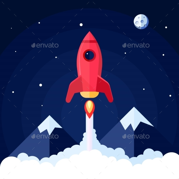 GraphicRiver Space Rocket Poster 10451657