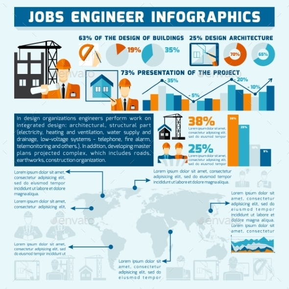 GraphicRiver Engineer Infographics Set 10451665