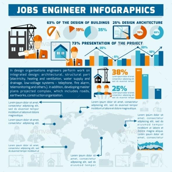 GraphicRiver Engineer Infographics Set 10451665