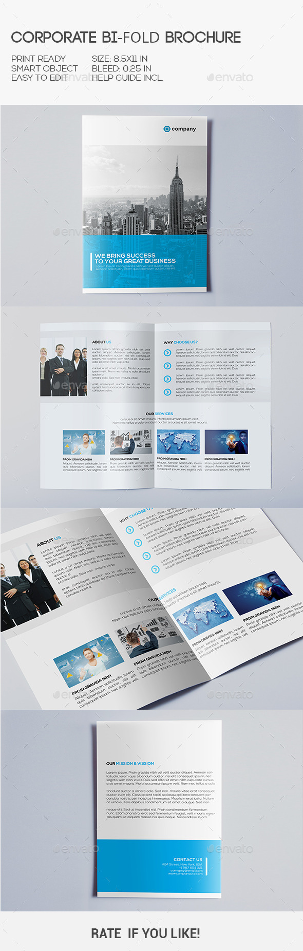 GraphicRiver Corporate Bi-Fold Brochure 10451666