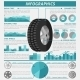 Tire Infographic Set - GraphicRiver Item for Sale