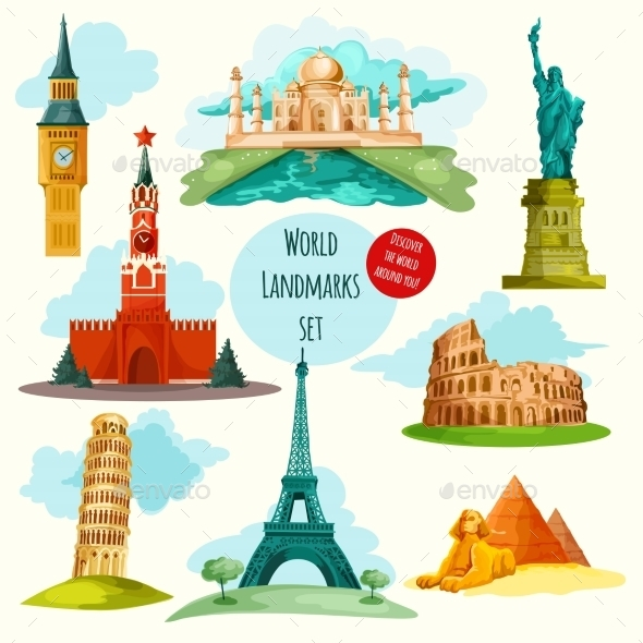 GraphicRiver World Landmarks Set 10451718
