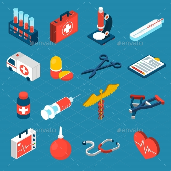 GraphicRiver Medical Isometric Icons 10451740