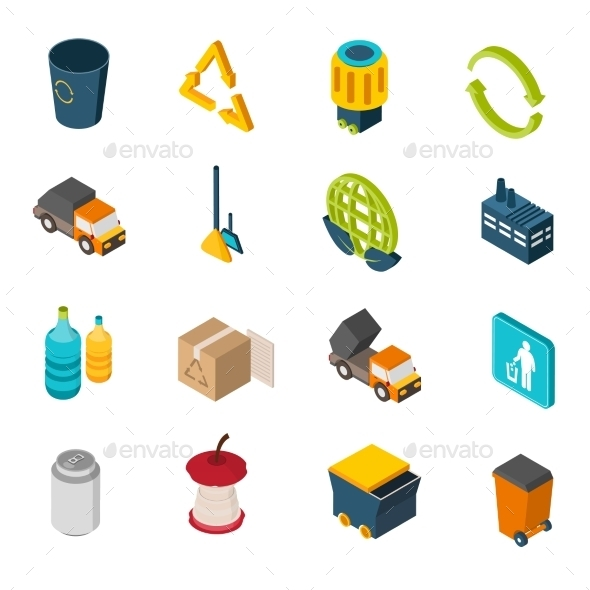GraphicRiver Garbage Isometric Icons 10451765