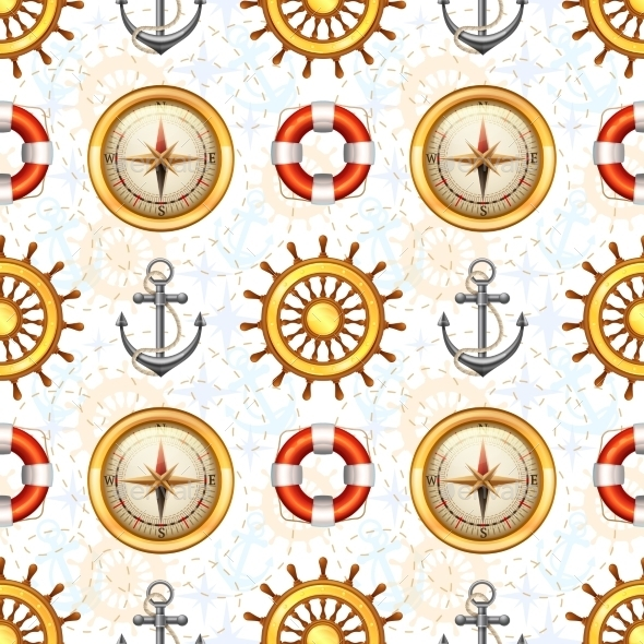 GraphicRiver Marine Seamless Pattern 10451810