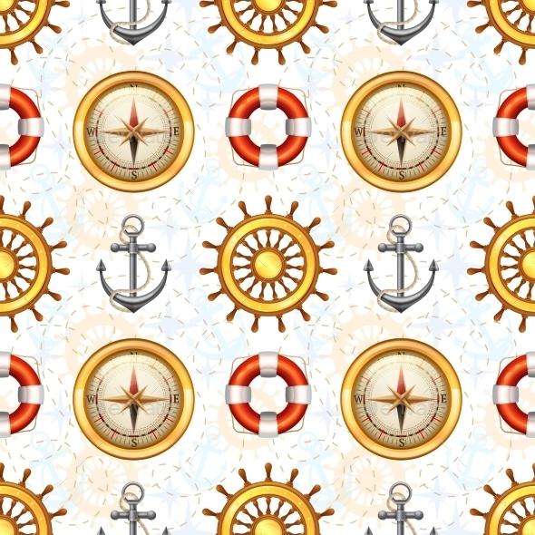 GraphicRiver Marine Seamless Pattern 10451810