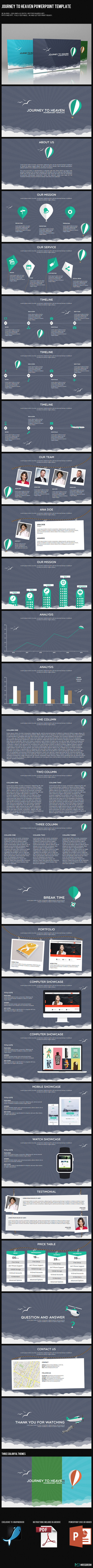 Journey to Heaven PowerPoint Template (PowerPoint Templates)