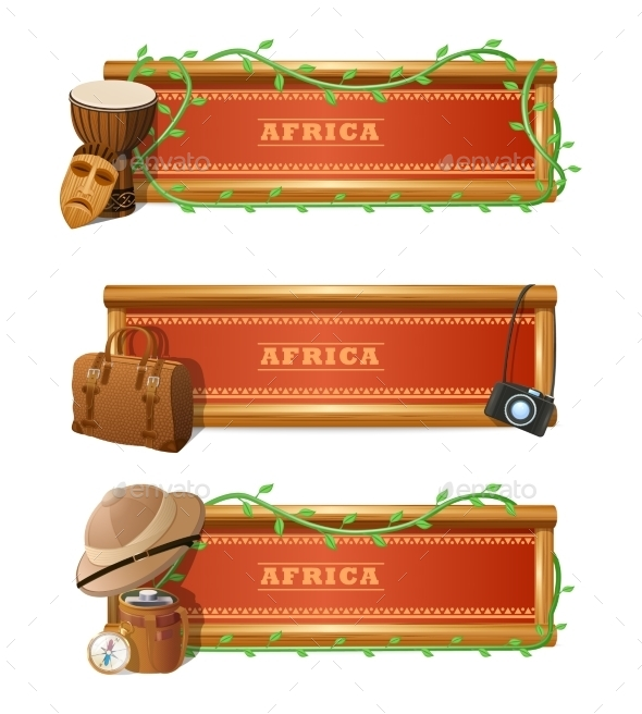 GraphicRiver African Banner Set 10451892