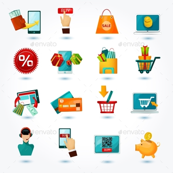 GraphicRiver E-commerce Icons Set 10451902