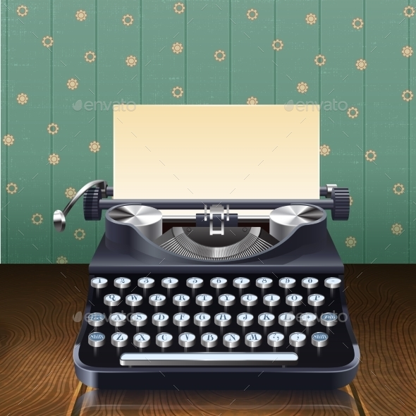 GraphicRiver Retro Style Typewriter 10451920