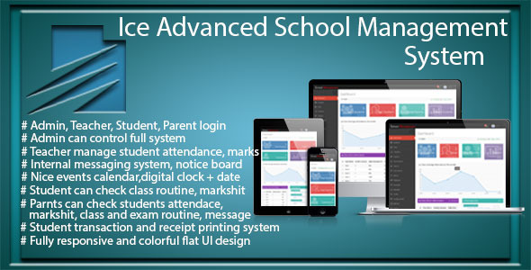 CodeCanyon Ice Advanced School Management System 10452009