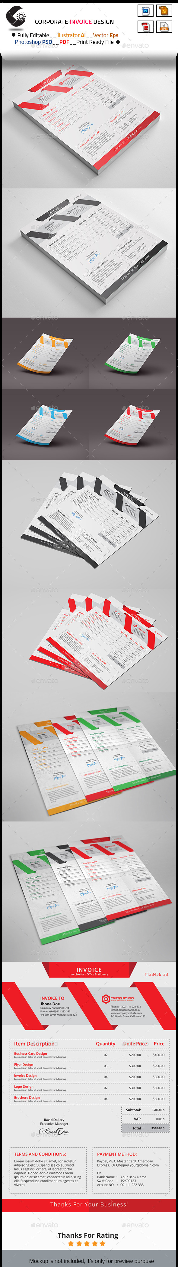 GraphicRiver Invoice Template 10453088