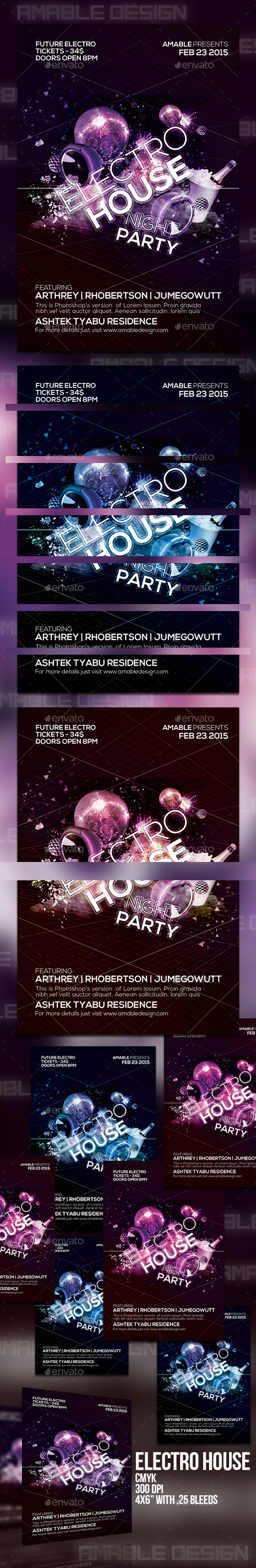 GraphicRiver Electro House Flyer 10453110
