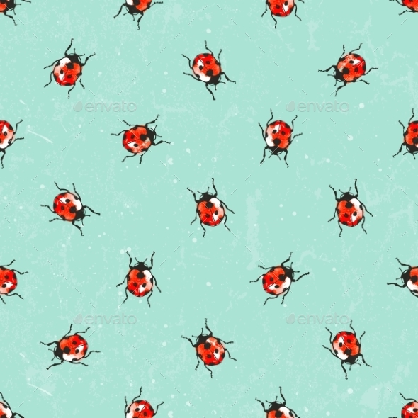 GraphicRiver Ladybug Pattern 10453125