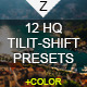 12 HQ Tilt-Shift+Color Presets - GraphicRiver Item for Sale