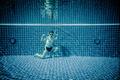 Underwater pool portraying Superman - PhotoDune Item for Sale