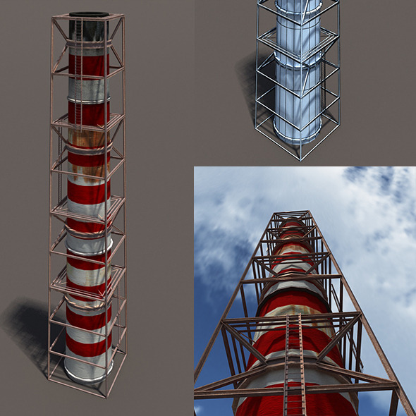 3DOcean Chimney Low Poly 3D Model 10453648