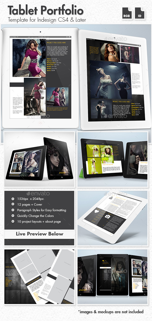 GraphicRiver Creative Portfolio for Tablets 10406185