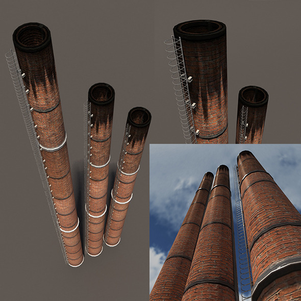 3DOcean Chimney Low Poly 3D Model 10453701