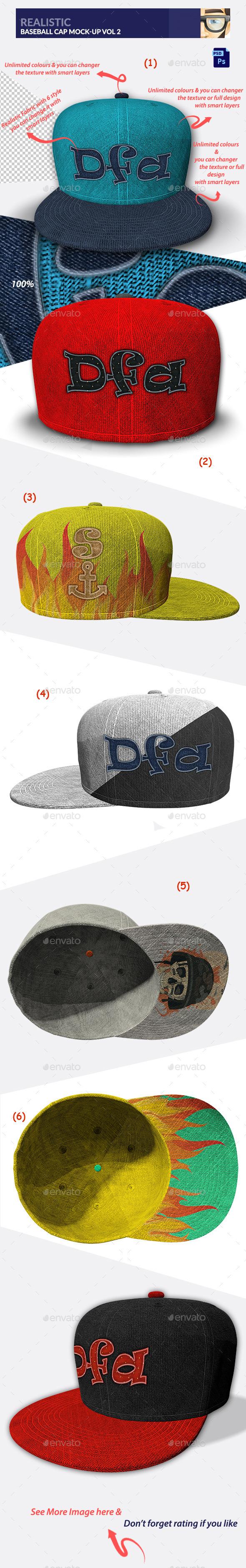 GraphicRiver Realistic Baseball Cap Mock-Up Vol 2 10399017