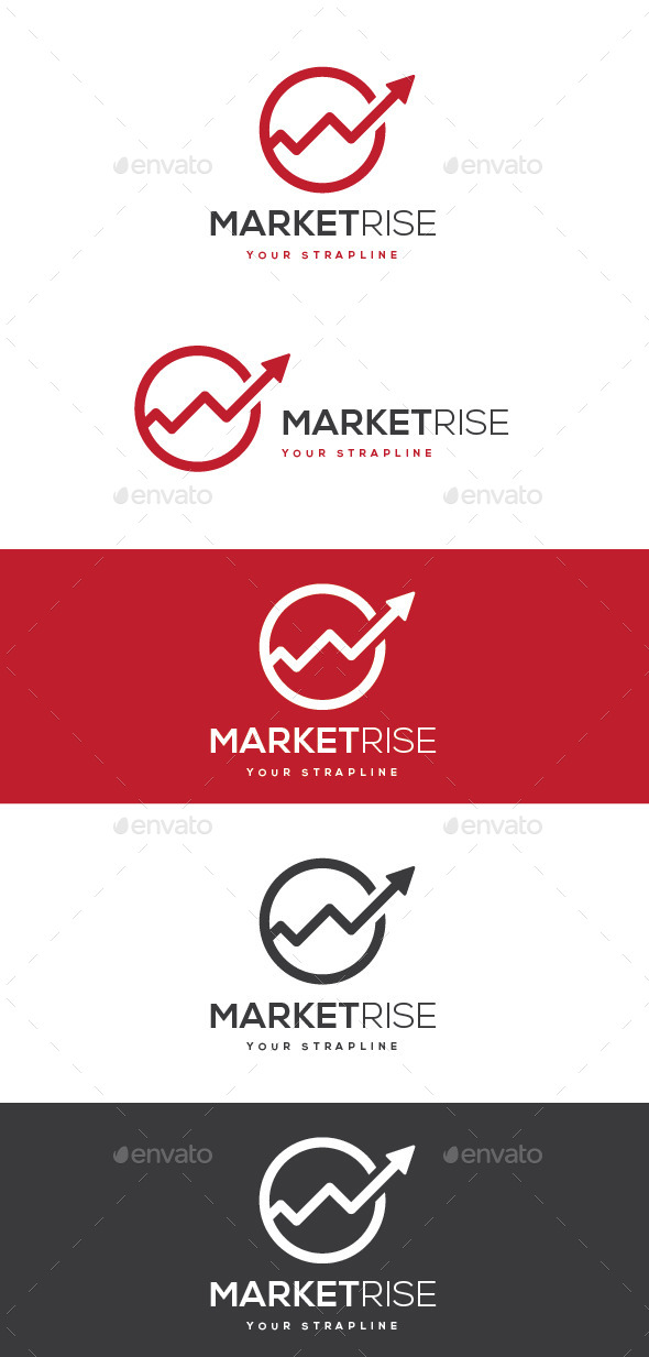 GraphicRiver Market Rise Logo 10453806