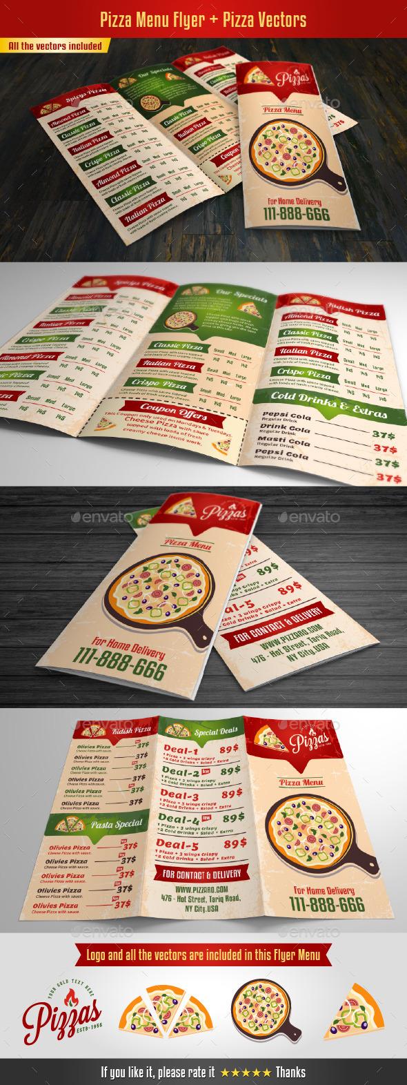 GraphicRiver Pizza Menu Flyer 10405248