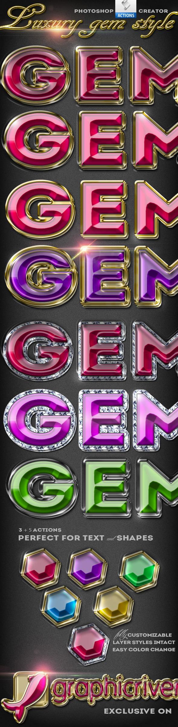 GraphicRiver Gem Style Jewelry Photoshop Creator 10454462