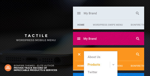 CodeCanyon Tactile WordPress Mobile Menu 10454486