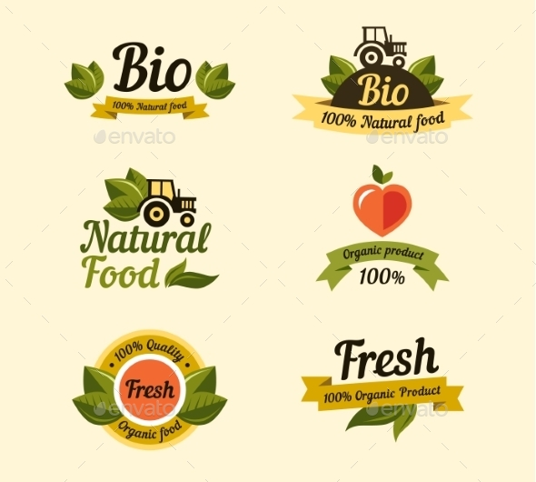 GraphicRiver Bio Labels and Symbols 10454572