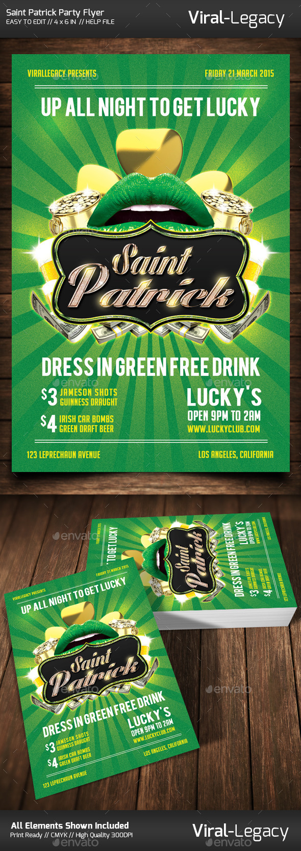 GraphicRiver Saint Patrick Party Flyer 10454581