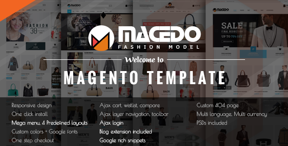 ThemeForest Macedo Responsive Magento Theme 10454649