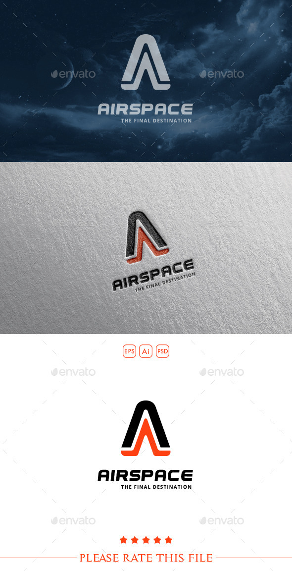 GraphicRiver A Aerospace Logo 10454706