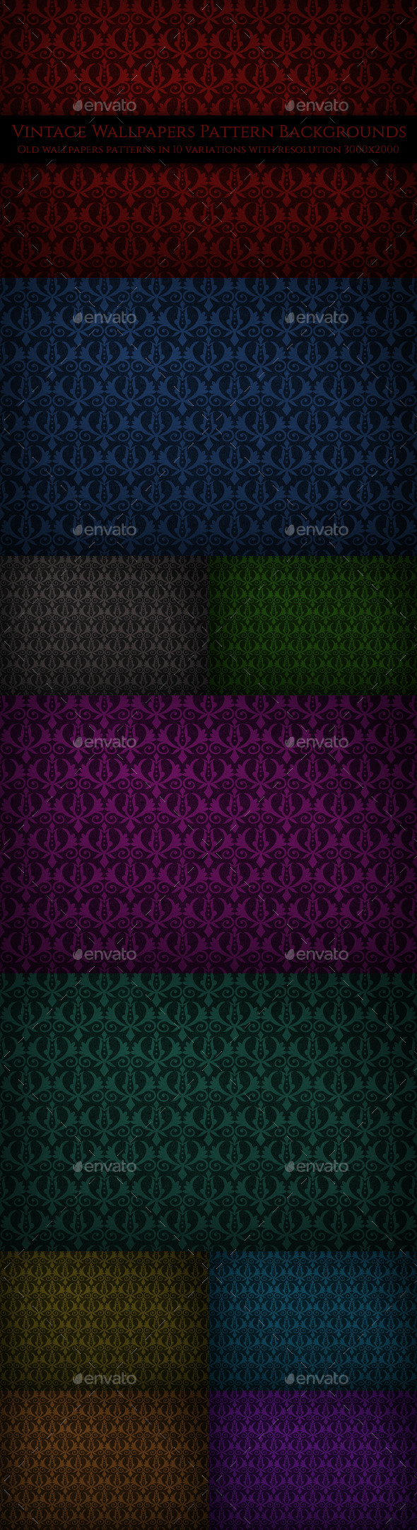 GraphicRiver Vintage Wallpapers Pattern Backgrounds 10454728