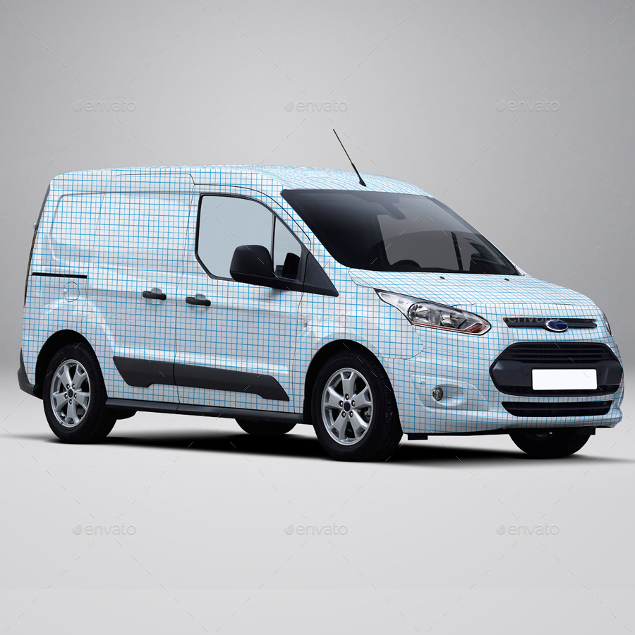 2014 ford transit connect wrap mockup by pascau graphicriver. Black Bedroom Furniture Sets. Home Design Ideas