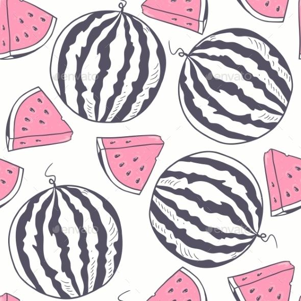 GraphicRiver Watermelon Pattern 10454827