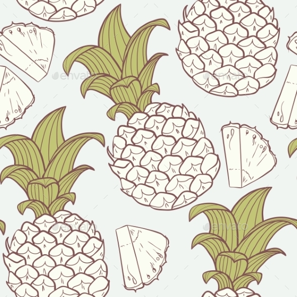 GraphicRiver Pineapple Pattern 10454871
